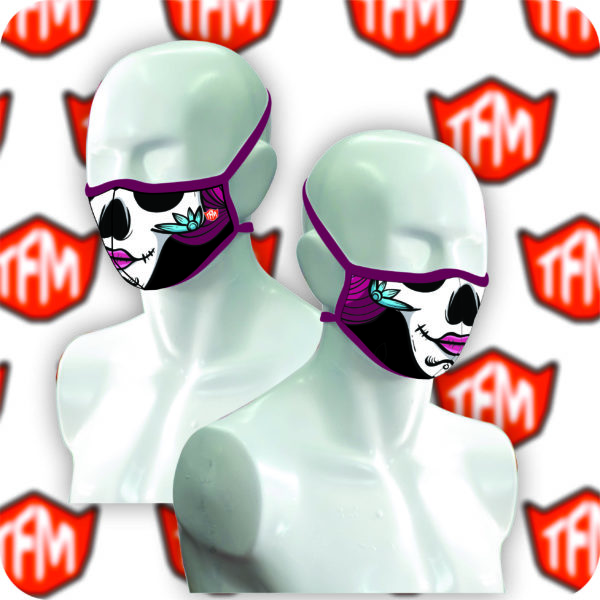 Purple Flower Face Mask